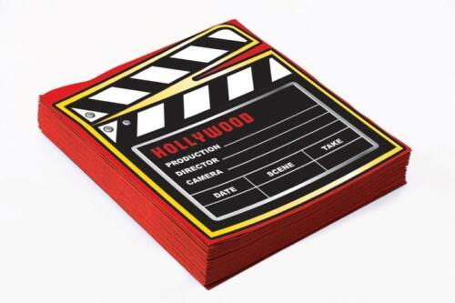 """Dîner Serviette 13/"""" Hollywood Awards Oscars au cinéma sur le thème de décorations de fête"""