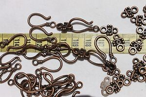 11x24mm-Tibetan-Style-Hook-and-Eye-Clasps-25pcs-5-Colors-to-Choose-From
