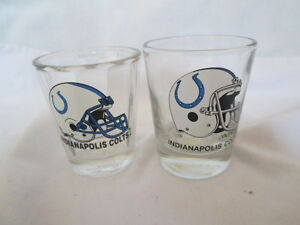 Details About 2 Nfl Indianapolis Colts Shot Glasses Both Different
