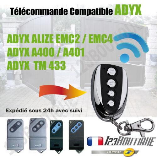 A401 TM 433 PORTAIL TELECOMMANDE COMPATIBLE ADYX  ADYX ALIZE EMC2 EMC4 A400