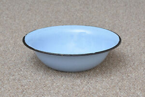 old-enamelled-washing-bowl-shabby-bath-chic-enamel-32-5-cm-FREE-POSTAGE