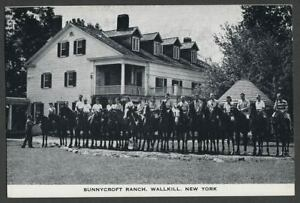 Wallkill-Shawangunk-Ulster-County-NY-c-1940s-Postcard-SUNNYCROFT-RANCH-Horses