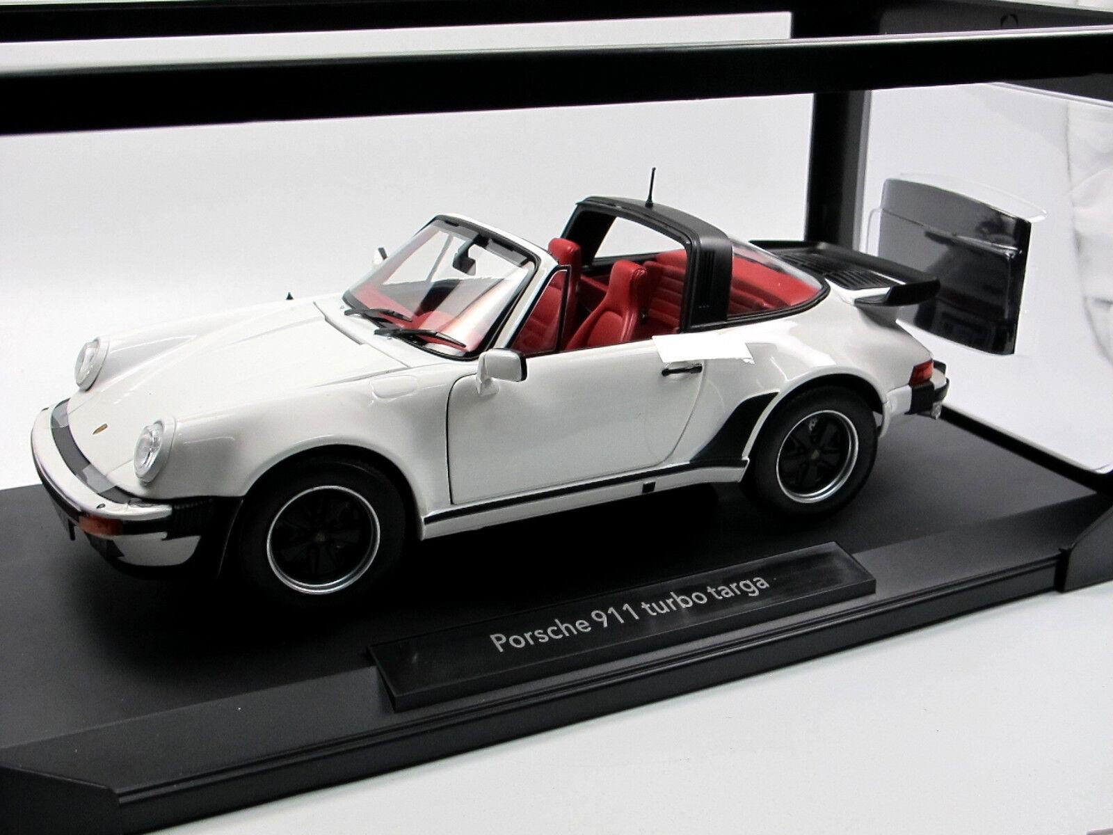 Norev 187660 - porsche 911 targa - 1987 3,3 turbo wei ß - 1,18 - neu