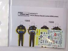 1/43 A.Senna Figure Decal *Tameo/Denizen/Minichamps/McLaren/Lotus