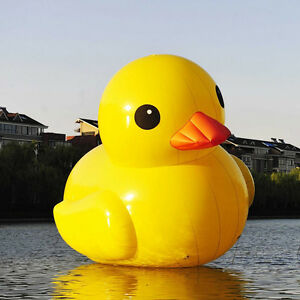 10ft outdoor giant inflatable promotion yellow rubber duck floats