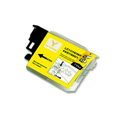 1 Pk Yellow Printer Ink Use For Brother Lc61 Lc61y Mfc J415w J615w J630w Firm In Structuur