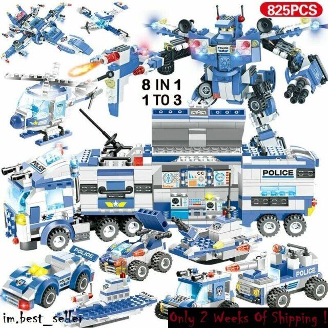 City Special Police Series Swat Truck Station Building 8 1 Blocks Lego Legos