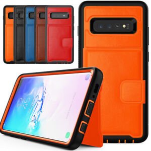 PU-Leather-Credit-Card-Holder-Phone-Case-For-Samsung-Galaxy-S10-Plus-S10e-2019