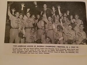 Trenton New Jersey Post 93 American Legion 1948 Baseball