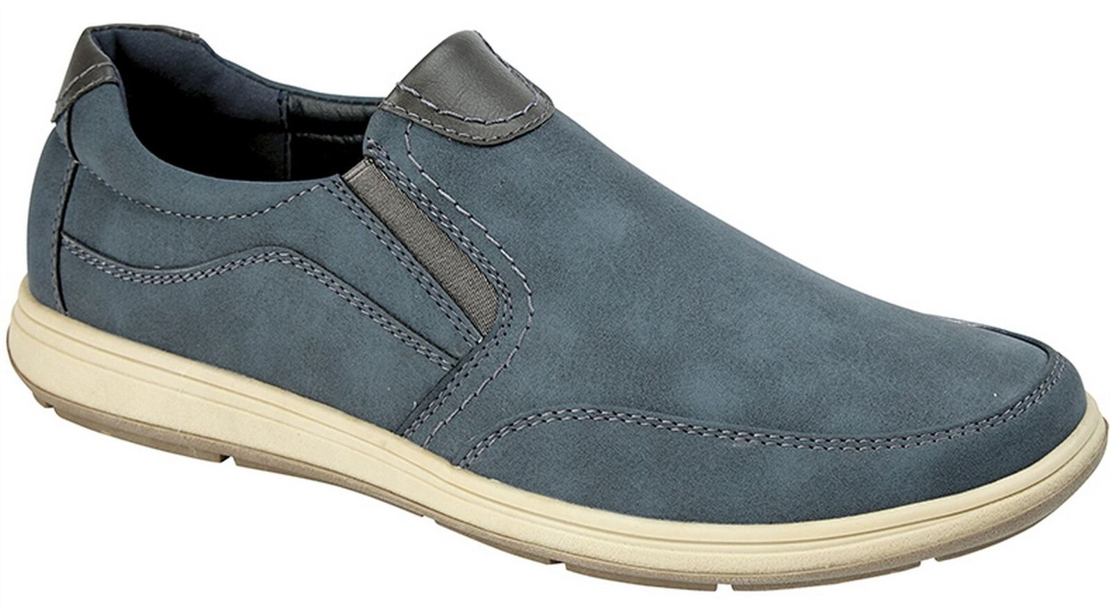 Mens Smart Slip On Lightweight Twin Gusset Casual Smart Mens Leisure Shoes Size 6-12 6afcfc