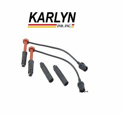 KARLYN Wire Set 4 BOSCH Spark Plugs For Mercedes-Benz C230 1999-2000