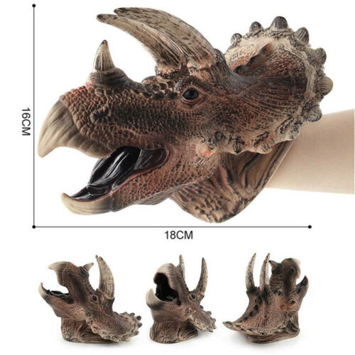 Velociraptor Dinosaur Hand Puppet Kids Play Toy Tyrannosaurus Rex Spinosaurus 6A
