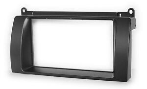 Carav-11-577-CAR-RADIO-RADIO-FACEPLATE-FOR-MG-7-2007-DOUBLE-DIN-Black