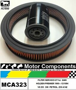 FILTER-SERVICE-KIT-Oil-Air-Fuel-HOLDEN-PREMIER-Petrol-V8-253-amp-308-1969-12-1984