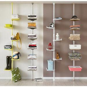 New 6th Floor Pole Shelves Clothes Bag Corner Rack Closet