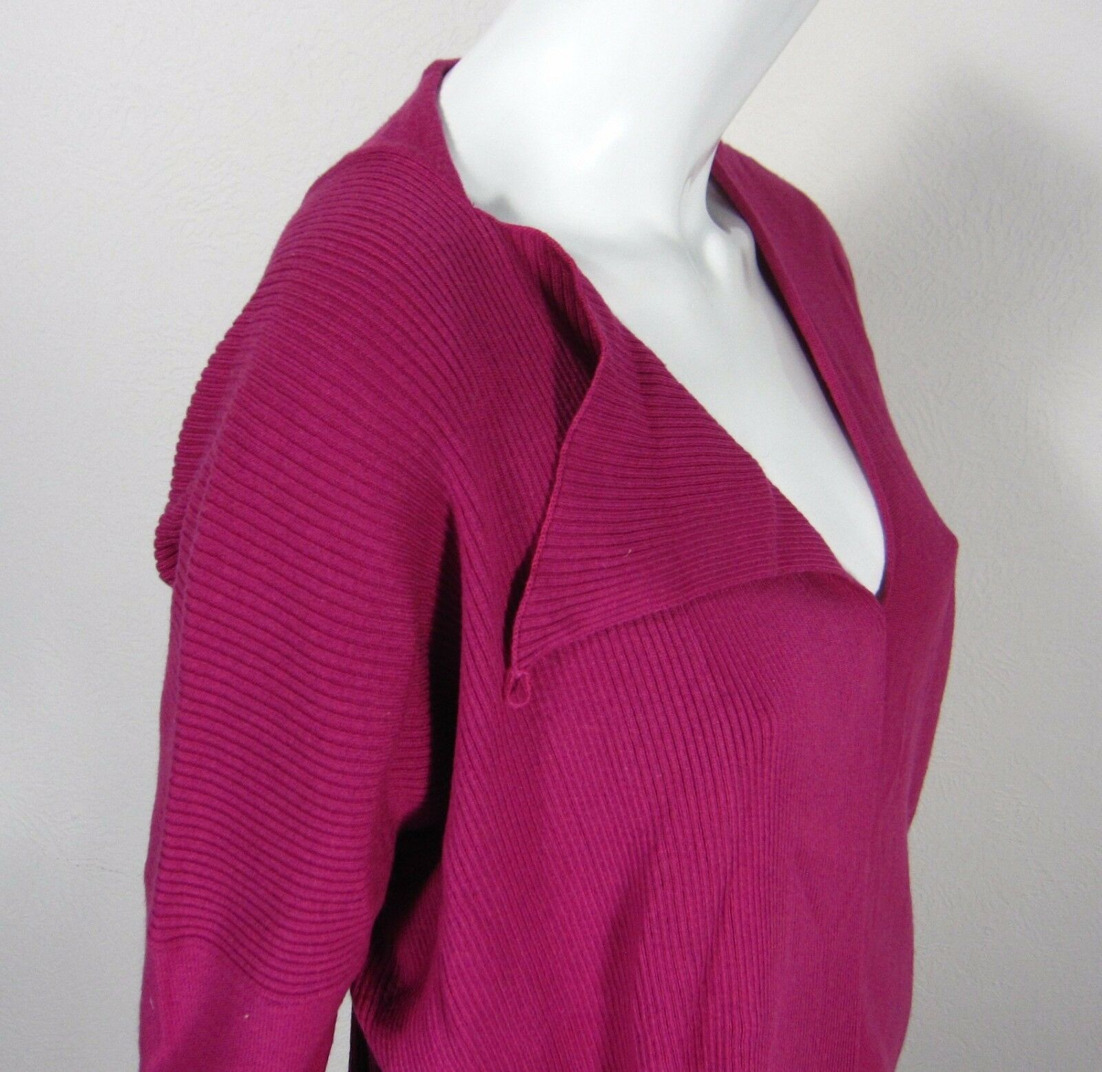 CoSTUME NATIONAL MADE IN ITALY LONG SLEEVE SWEATER L Large Large Large BERRY Red Keyhole 1b91d2