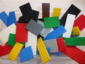 LEGO-30-Platten-duenn-Bauplatten-rechteckig-quadratisch-Sonderformen-Konvolut
