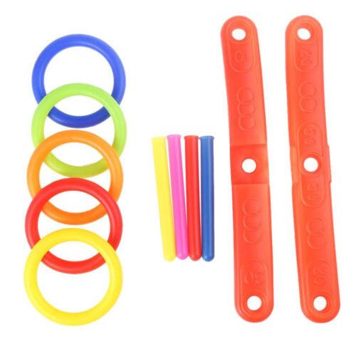 Hoop Ring Toss Plastic Ring Toss Garden Game Pool Toy Outdoor Fun Set