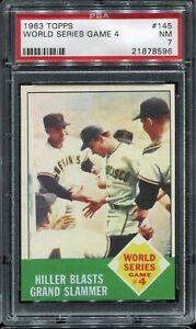 1963-Topps-Baseball-145-WORLD-SERIES-Game-4-PSA-7-NM