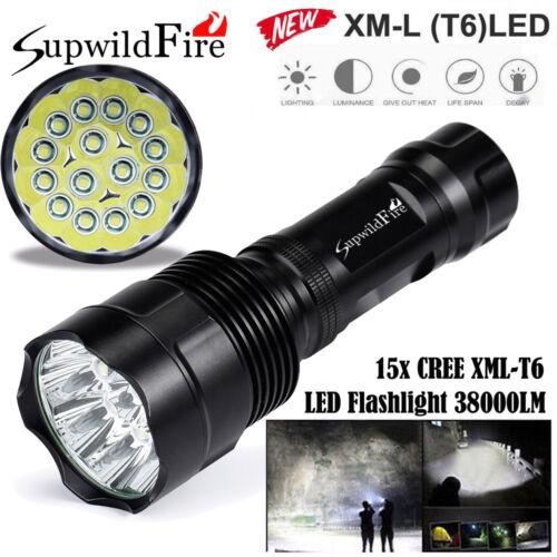 45000LM 18x XML T6 LED 5 Modes LED Flashlight High Power Torch Light Lamp Bright