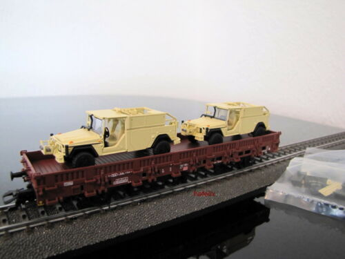 nuevo en OVP Märklin 46960 h0 4 mfor ejército alemán transporte con 2 x serval