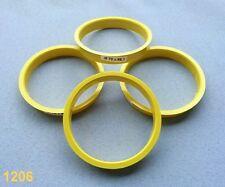 (1206) 4x  Zentrierringe Reduzierringe 70,0 / 66,1 mm  gelb für Alufelgen