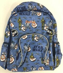 Details About Pottery Barn Kids Star Wars Droids Backpack Large Monogram Dallas