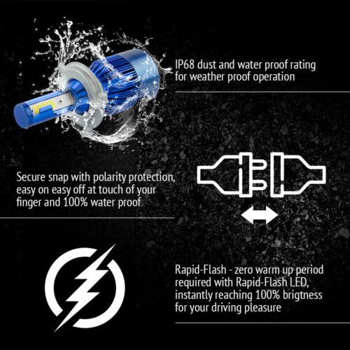 H4 9003 HB2 488W 48800LM Car LED Headlight Bulbs Cree COB kit 6500K White