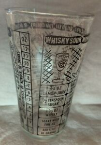 Bartenders-Liquor-Measuring-Mixer-Glass-Drink-Recipes-Glasses-6-inches