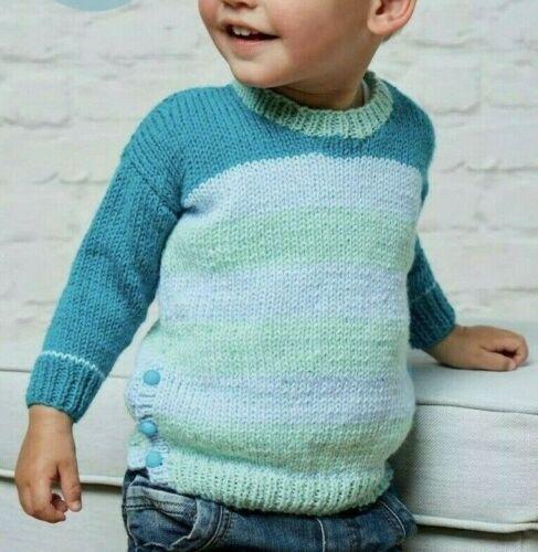 - 0382 Child/'s Round Neck Tunic Sweater Knitting Pattern 6mths-3yrs