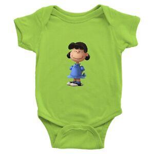 Infant-Baby-Boy-Girl-Rib-Bodysuit-Jumpsuit-Clothes-Gift-Snoopy-Lucy-van-Pelt