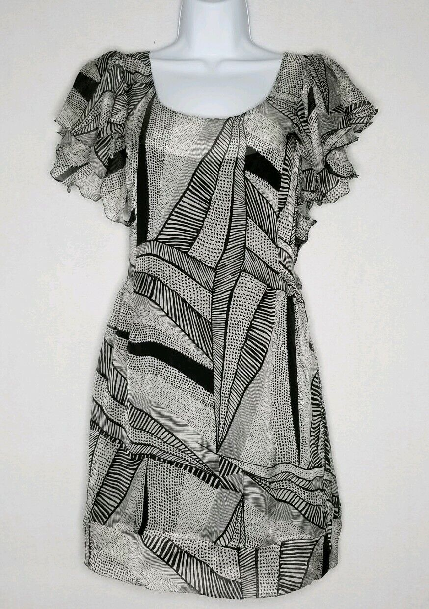 Sass & bide 100% Silk  Flutter Ruffle dress Größe 4