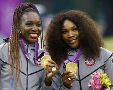 Tennis Players VENUS & SERENA WILLIAMS Glossy 8x10 Photo 2012 Olympics Poster