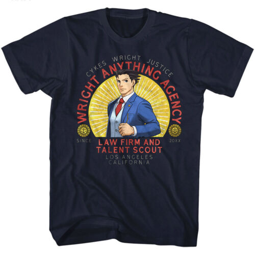 Ace Attorney Wright Anything Agency Lawfirm /& Talent Scout Adult T Shirt
