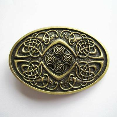 3D Celtic Knot Bronze Phoenix Inifinity belt Buckle Irish detalied