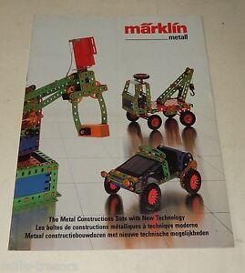 DernièRe Collection De Ancien Catalogue Marklin Metall : Boîtes De Construction Metalliques