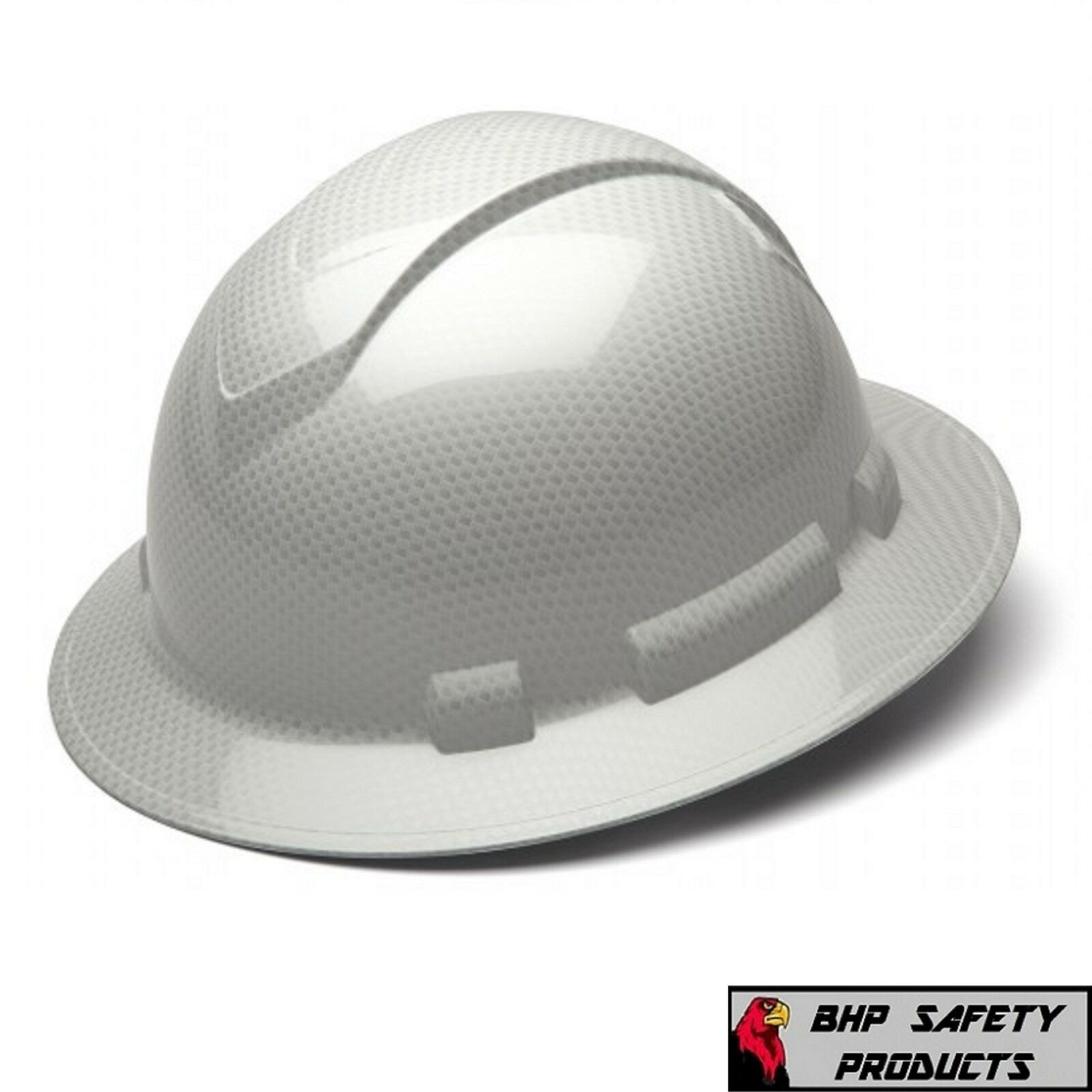 Buy Pyramex Ridgeline Hard Hat Graphite Pattern Shiny White Full ... 6382bd9f8ff9