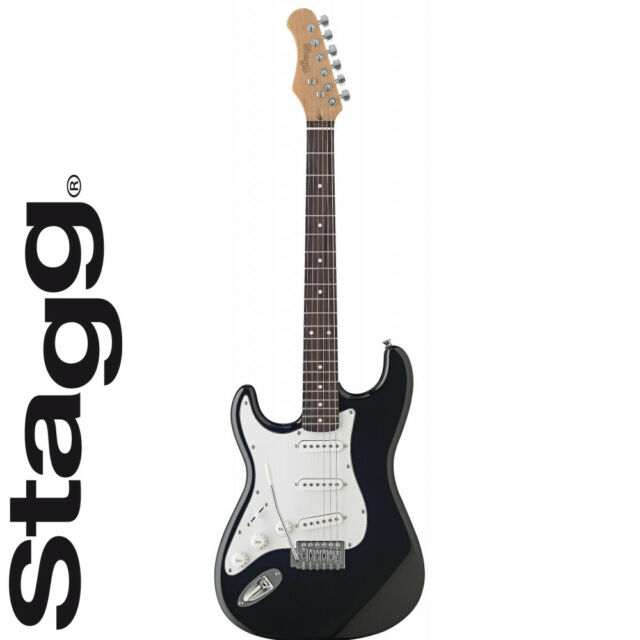 Stagg S300lh Bk Left Handed Electric Guitar Black Ebay
