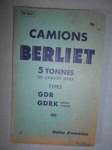 BERLIET-GDR-GDRK-camion-5T-notice-d-039-entretien-1936-647