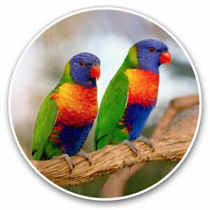2-x-Vinyl-Stickers-7-5cm-Rainbow-Lorikeet-Tropical-Parrot-Bird-Cool-Gift-1620