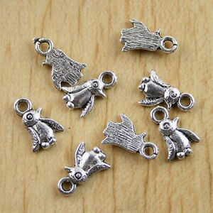20pcs Spacer Pendant Charm Tibetan Silver Jewelry Findings Flower 26x22x2.5mm YB