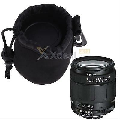 New Water resistant Soft Neoprene Camera Lens Pouch Bag Backpack Case Size Small