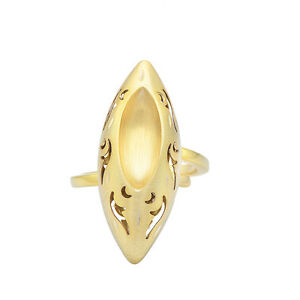 24k-Yellow-Gold-Plated-Marquoise-Shape-Ring-925-Sterling-Silver-Jewelry-STR-300