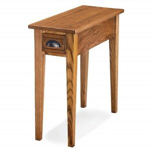 Details about Small Mission Oak Solid Wood Hallway Accent Living Room Side  End Table Narrow