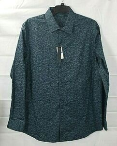 PERRY-ELLIS-big-amp-tall-mens-Dark-Sapphire-l-s-button-shirt-size-3X-NWT