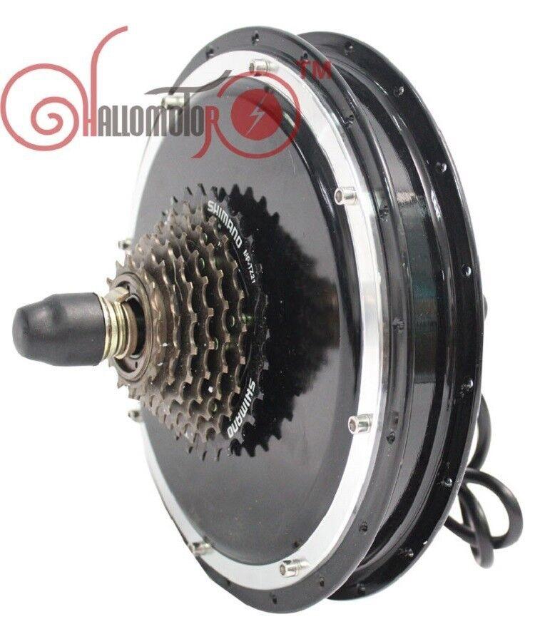 Ebike48V 1200W Threaded Rear Wheel Brushless Gearless Hub Motor fr Electric Bike