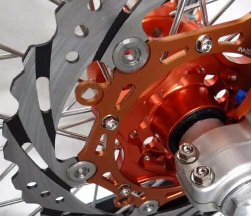 NICKEL PLATE 12 BRAKE ROTOR BOLTS FOR 01-18 KTM /& 50-550 HUSQVARNA HUSABERG