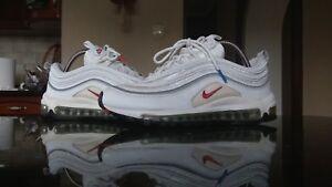 Nike air max 97 2009 white/sport red/blue 7UK 26.5CM 41EU