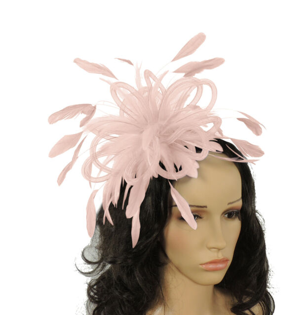 Baby Pink Fascinator Hat for weddings/ascot/proms F5