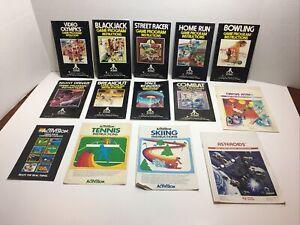 Lot Of 21 Vintage Atari Game Program Instructions Catalogs Comics ET Superman